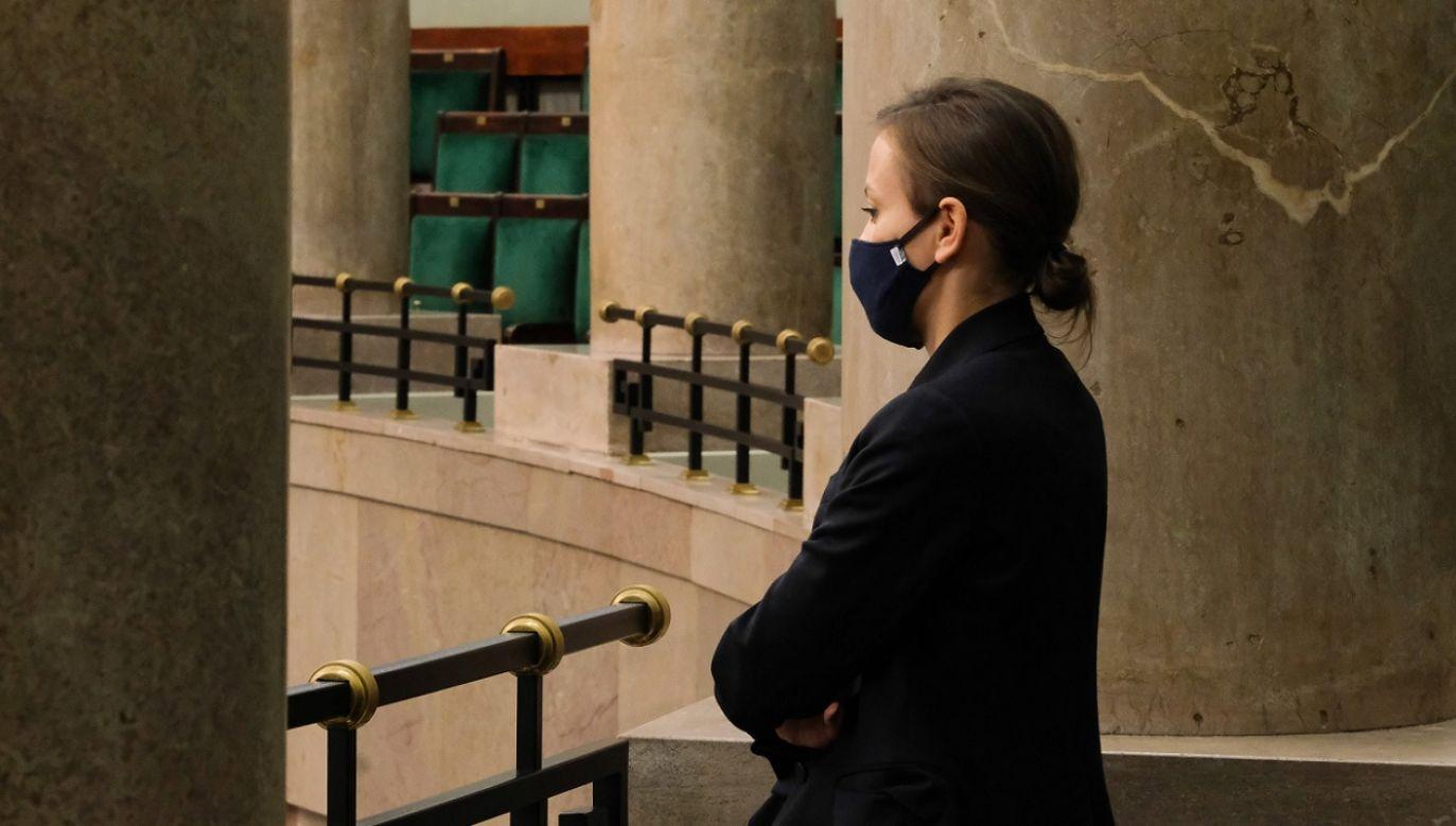 """Rudzińska-Bluszcz zapewniła, że """"przez 90 dni robiła wszystko, by zostać RPO"""" (fot. PAP/Mateusz Marek)"""