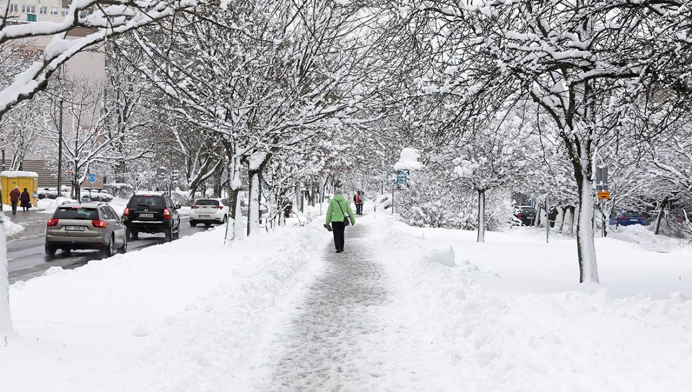 Śnieg spadnie w całym kraju (fot. PAP/Artur Reszko)