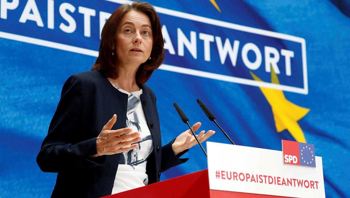 Katarina Barley do niedawna zajmowała fotel ministra sprawiedliwości w rządzie Angeli Merkel (fot. REUTERS/Fabrizio Bensch)