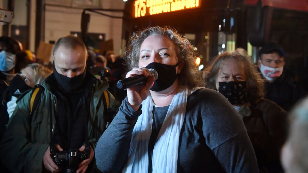 Liderka Ogólnopolskiego Strajku Kobiet Marta Lempart (fot. PAP/Radek Pietruszka)