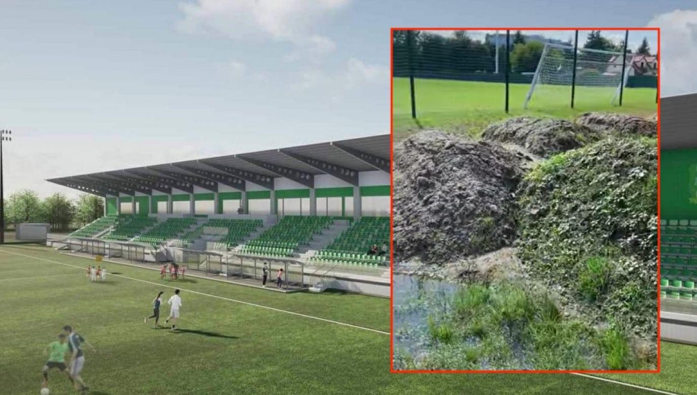 Stadion Miejski w Białej Podlaskiej (fot. Wizualizacja UM w Białej Podlaskiej, zrzut ekranu facebook.com/stefaniukoficjalnie)