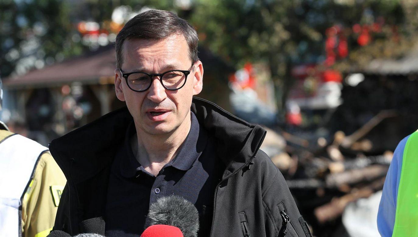 Trąba powietrzna przeszła nad Sądecczyzną (fot. PAP/Grzegorz Momot)
